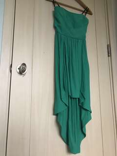 EVER NEW Strapless Green High Low Event Dress
