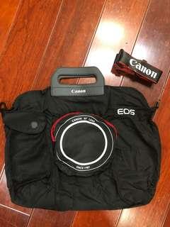 🚚 全新佳能EOS尼龍購物袋折疊環保袋相機手提包