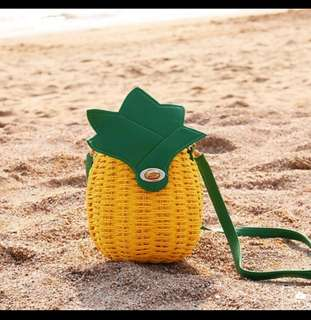 Pineapple Rattan Bag