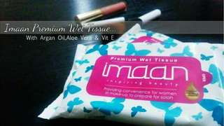 Imaan Premium Wet Tissue with argan oil