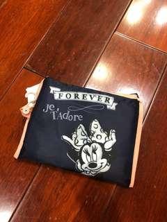 全新日本帶回米妮可愛購物袋環保袋可以摺疊收納