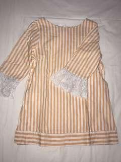 Orange blouse with laces