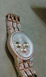 Gold diamond watch