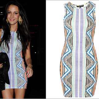 Tooshop Aztec Print Dress