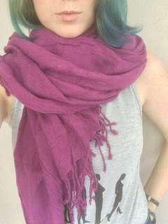 Large purple scarf