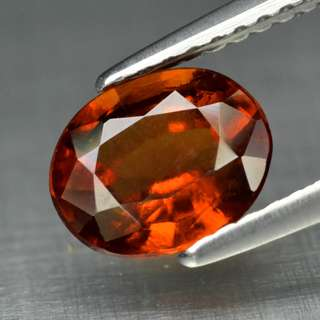 1.50ct Oval Natural Reddish Orange Hessonite Garnet