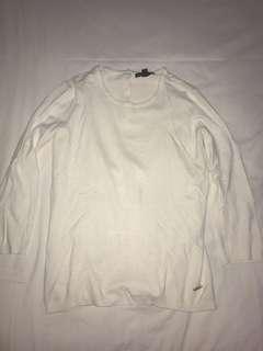 Mango broken white knitwear