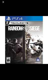rainbow six siege PS4 (WTB)