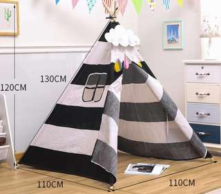 (PO) BN 130cm / 160cm Kids' Indian Indie Teepee Play House Canopy Tent