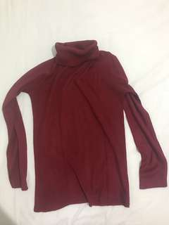 Vintage Red Knitwear - Turtleneck