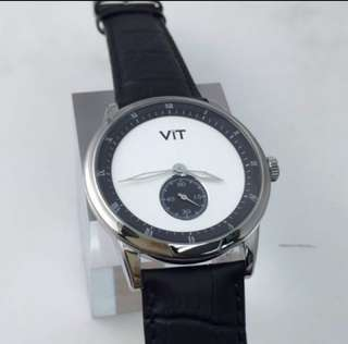 Stainless Steel Watch Men Black White 鋼錶 黑白