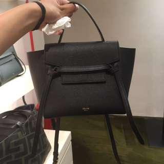 Celine Belt Bag nano size in black