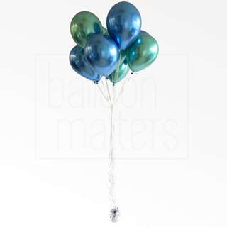 [Helium inflated] 11 inch Chrome Balloon