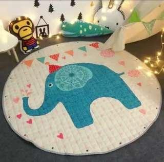 (Choose Design) BN Baby / Kids Floor Activity Play Tent Crawl Mat Rug Blanket Toy Collection Organiser Drawstring Bag