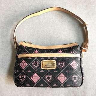 🚚 JSN DEORA法國傑遜迪歐巴黎粉系時尚。手提包。肩背包。黑色。粉紅。圖騰。女用包。小包。幾何圖形。花朵。圖案。黑