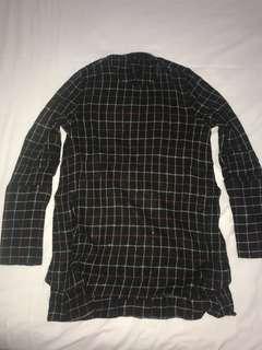 Zara checker blouse