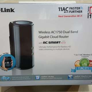 D-Link AC1750 Dual-Band Gigabit Cloud Wireless Router (BRAND NEW)