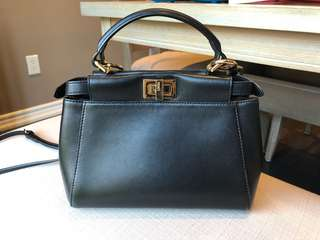 Used Fendi peekaboo mini bag