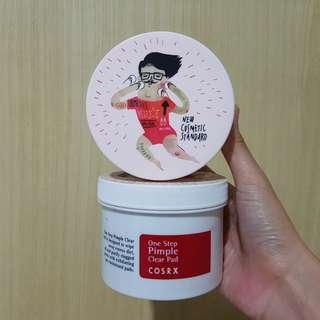 10 Pads + Jar Asli Cosrx One Step Pimple Clear Pad