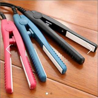 Mini portable Ceramic Hair Straightener / curler - Black / Pink / Blue