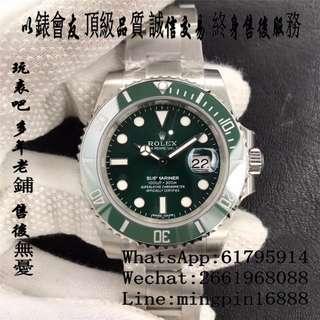 玩表吧 免訂面交 勞力士 Rolex submariner 116610LV 綠圈綠面 116610 40mm 陶瓷圈 綠水鬼 Noob V8版