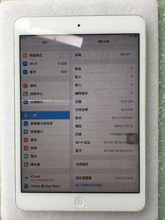 Ipad mini 16GB銀色 wifi版