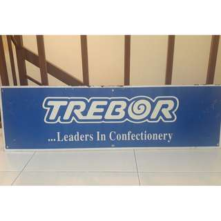 Vintage double sided metal sign Trebor