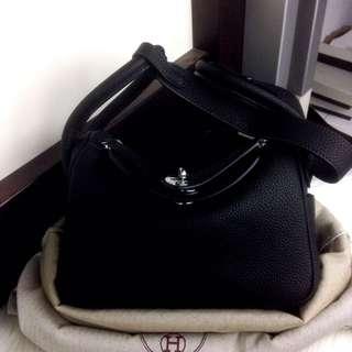 HERMES Lindy Togo Leather SHW