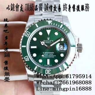 玩表吧 免訂面交 勞力士 Rolex submariner 116610LV 40mm 陶瓷圈 綠水鬼 藍寶石 116610 VR 出品