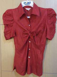 Kemeja or blouse premium red