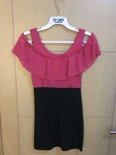 Dress fuschia designer
