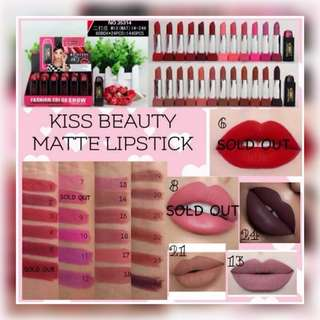 💌 FREE Normal Mail 【INSTOCK】 Kiss Beauty Matte Lipstick
