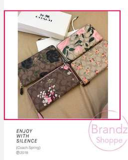 🚀🚀🚀SUPER SALE! 💯% Authentic Coach Women Spring Floral Zipper Long Wallet / Ladies Purse @ ALL Ready Stock! MUST BUY~