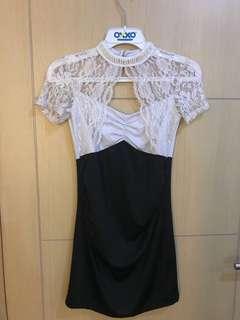 Dress premium import white brukat