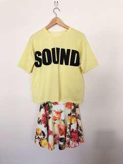Brand new, shirt+skirt 2 pieces, from Korea, M Size