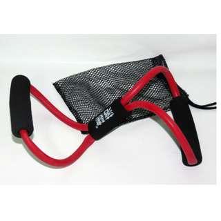 8字擴胸拉背拉力繩 居家健身用品 附贈一個黑色的收納網袋