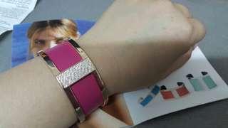 Rose gold Les Georgettes diamond les precieuses barrette 25mm  bangles