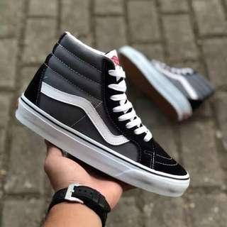 Sepatu Vans SK8-HI Classic  Grey White Black BNIB ORIGINAL
