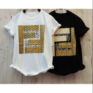 T-shirt branded fendi 8323