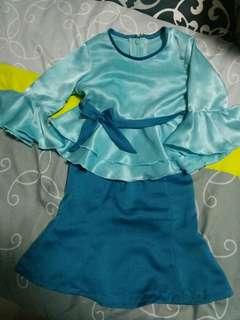 Blue Baju Kurung 6mths - 8mths