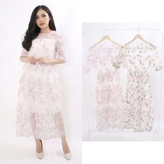 Dress brukat adela
