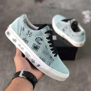 Sepatu Vans Vault x BRAIN DEAD Old Skool LX BNIB ORIGINAL