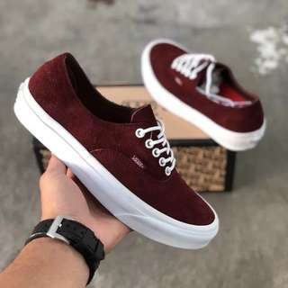Sepatu Vans Authentic California Decon Maroon BNIB ORIGINAL