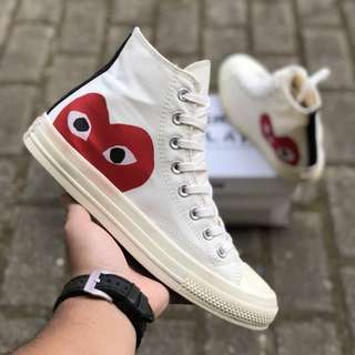 Sepatu COMME des GARCONS PLAY x Converse All Star Chuck Taylor 70's High BNIB ORIGINAL