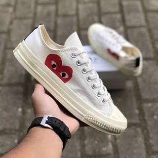 Sepatu COMME des GARCONS PLAY x Converse All Star Chuck Taylor 70's Low BNIB ORIGINAL
