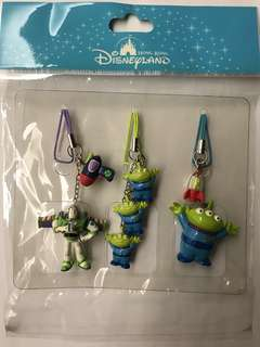 三眼仔 Hong Kong Disneyland toy story alien 電話吊飾