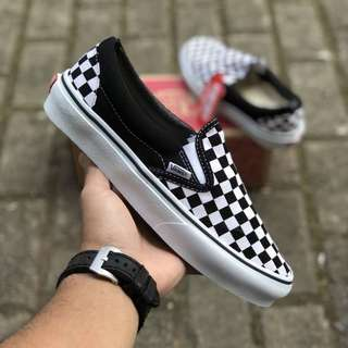 Sepatu Vans Slip-On Classic Checkerboard BNIB ORIGINAL