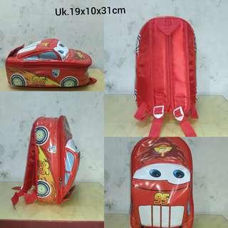 Tas sekolah anak paud bentuk mobil