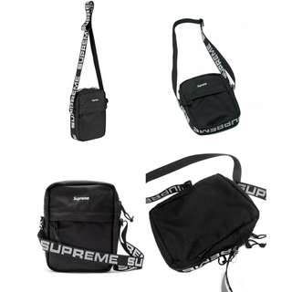 SUPREME Shoulder Bag SS18 Black Tas Crossbody Selempang OFF White bape