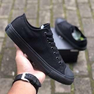 Sepatu Converse Chuck Taylor II CT2 Lunarlon All Star all black BNIB ORIGINAL